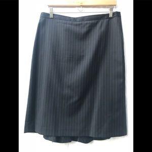 J.Crew navy blue pinstriped skirt